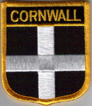 Cornwall Embroidered Flag Patch, style 07.
